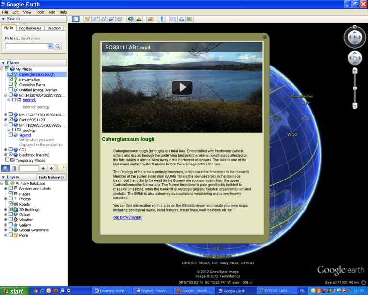 View of Using Google Earth for Field trips and map making